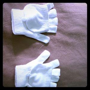 White brand new children's gloves